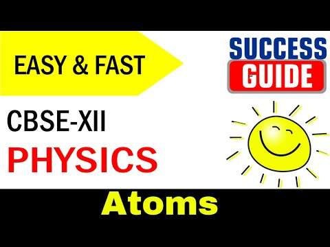 CBSE XII Physics Atoms -3 Bohr's model of the hydrogen atom by Success Guide