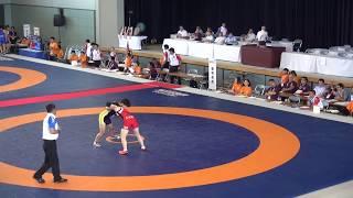 レスリング 女子60Kg級 準々決勝 至学館(愛知県) - 樟南(鹿児島県) イン...