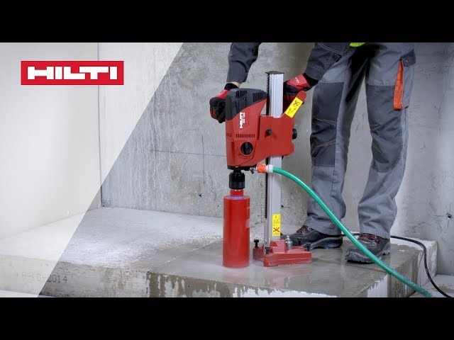 HOW TO use Hilti DD 120 diamond coring tool for wet drilling into concrete