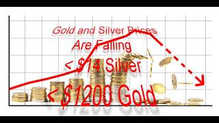 Why gold will fall below $1200 and silver below $14 again