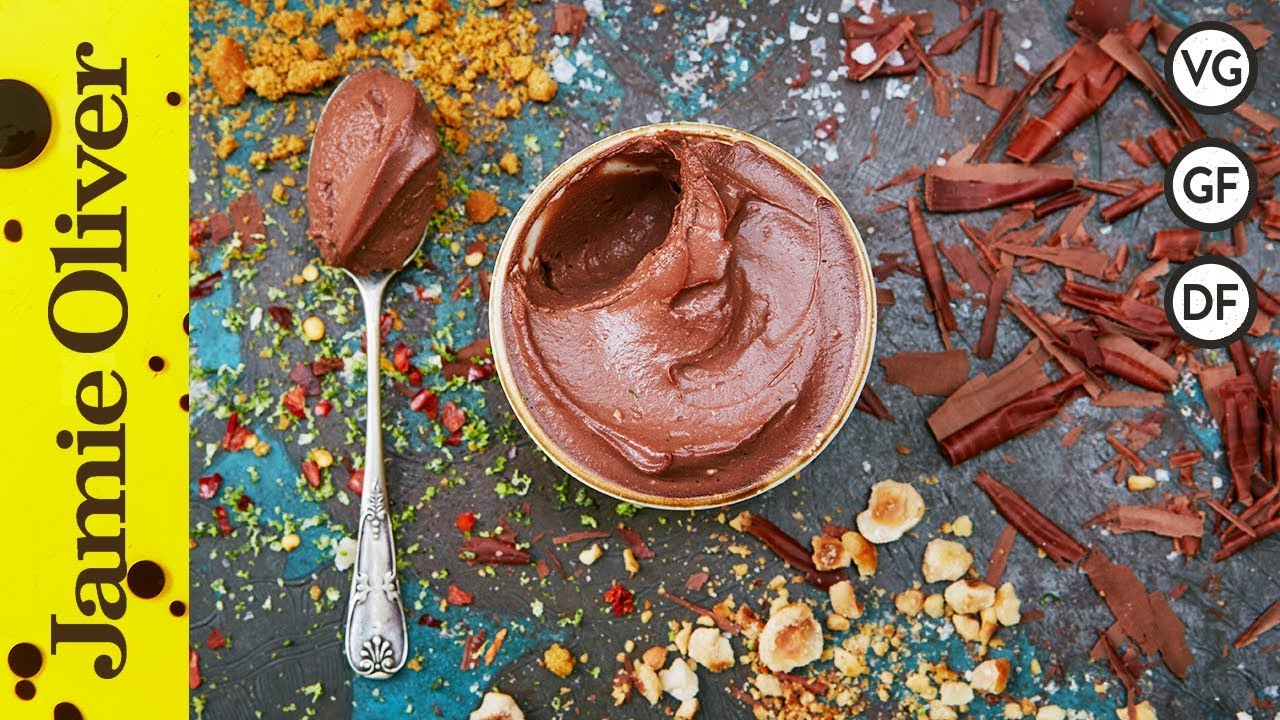 Vegan chocolate pots jamie oliver youtube ccuart Gallery