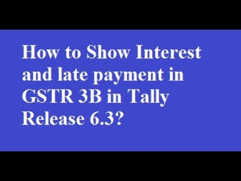 How to show interest late fees in gstr 3b youtube for Table 6 of gstr 3b