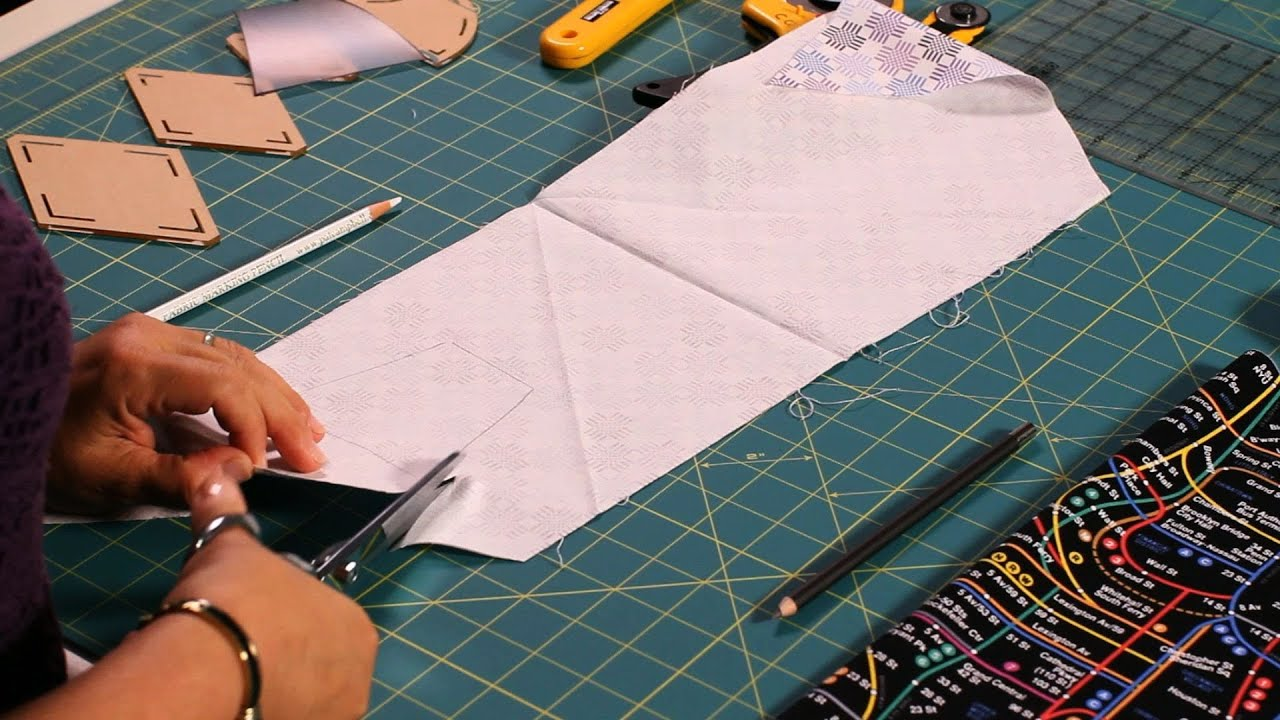 how to use a quilting template quilting