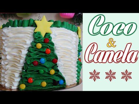 Tarta de navidad de coco y canela