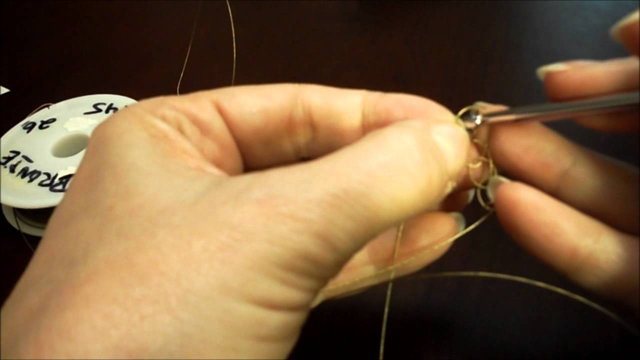 How to Crochet a Wire Ring - YouTube