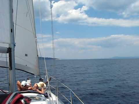 www.charterayacht.gr - Sailing at Halkidiki Sithonia daycruise from Porto Carras Part 2.AVI