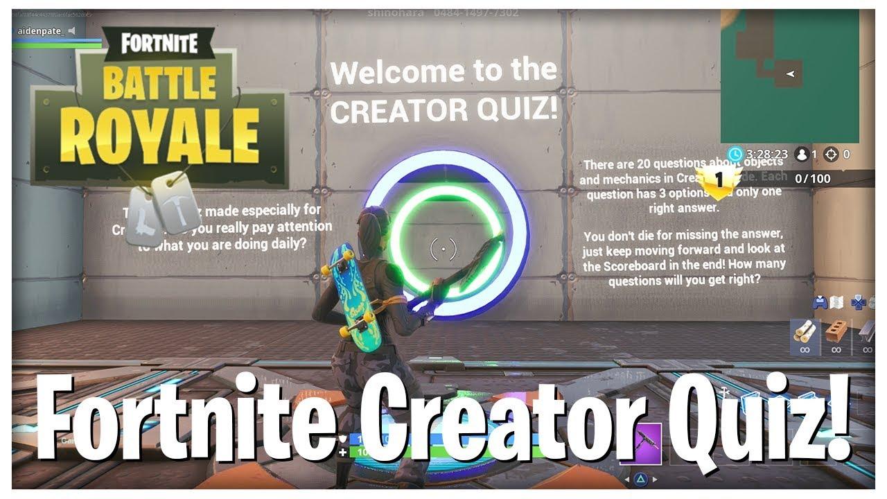 Fortnite Quiz Map