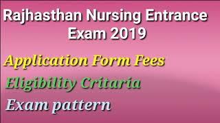 Bsc Nursing Admission 2019 Rajasthan