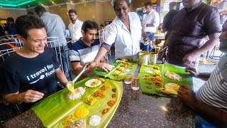 World's Best Vegetarian Food - $2.78 All You Can Eat!! | Banana Leaf Sadhya - Kerala, India!