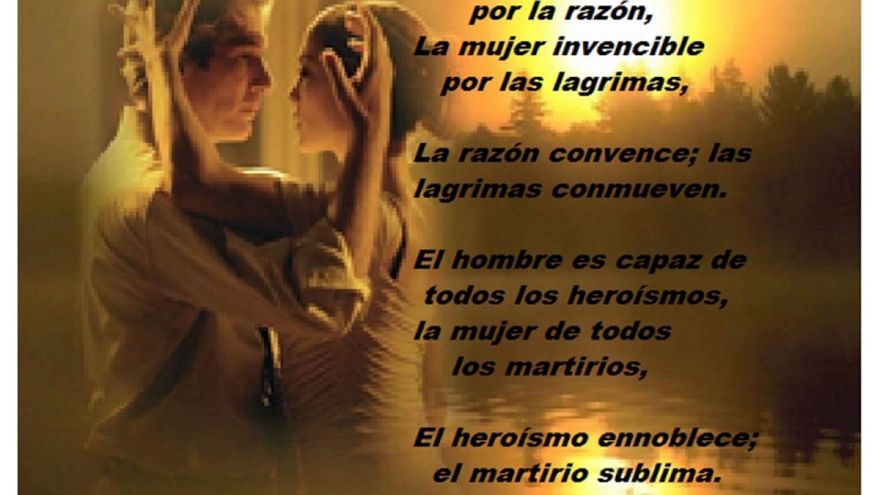 Poema El Hombre Y La Mujer Victor Hugo 1