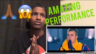 Justin Bieber Emotional (Live) Performance- Love Yourself One Love Manchester Ariana Grande Reaction