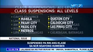 Updated List of areas with class suspensions for July 9, 2015