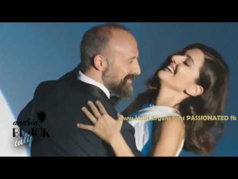 Halit Ergenc and Berguzar Korel are dancing GIFT CREATION Halit is singing ''Sway with me...''