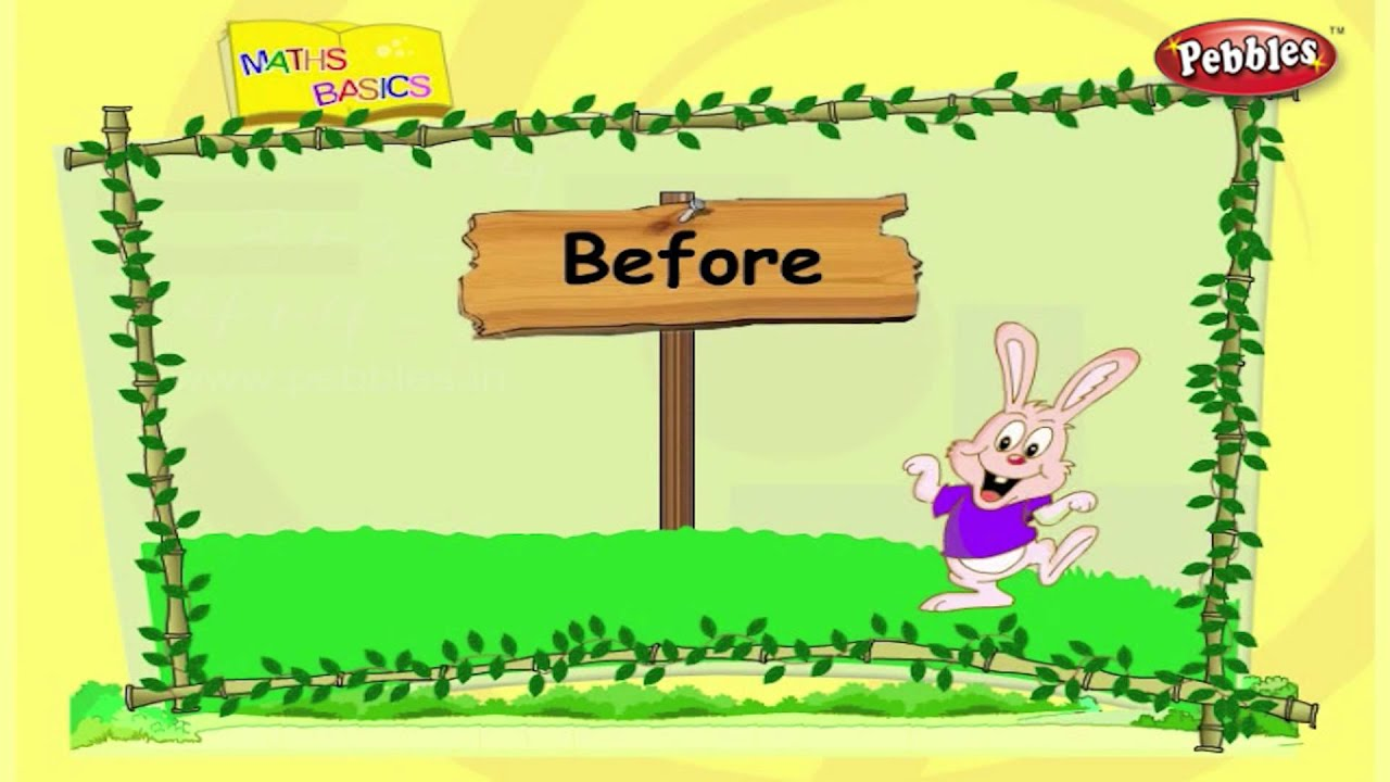 Before After In Between Basic Maths Maths Basics For Kids Maths Tricks