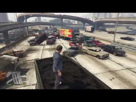 GTA V: Huge Vehicle Explosive Chain - Lethal Traffic Jam