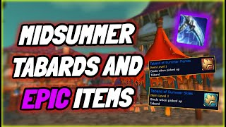 Midsummer tabards and Epic items in TBC Classic