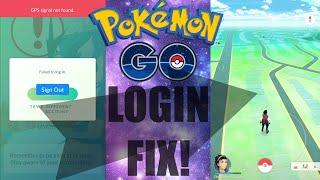 pokemon go login issue problem fix authentication fix loading screen problem