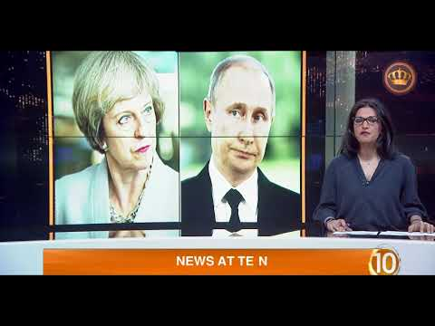 English News at Ten on Jordan Television 15-03-2018