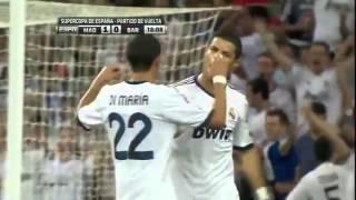 Real Madrid vs Barcelona 2-1 2012 Supercopa De España Final ESPN