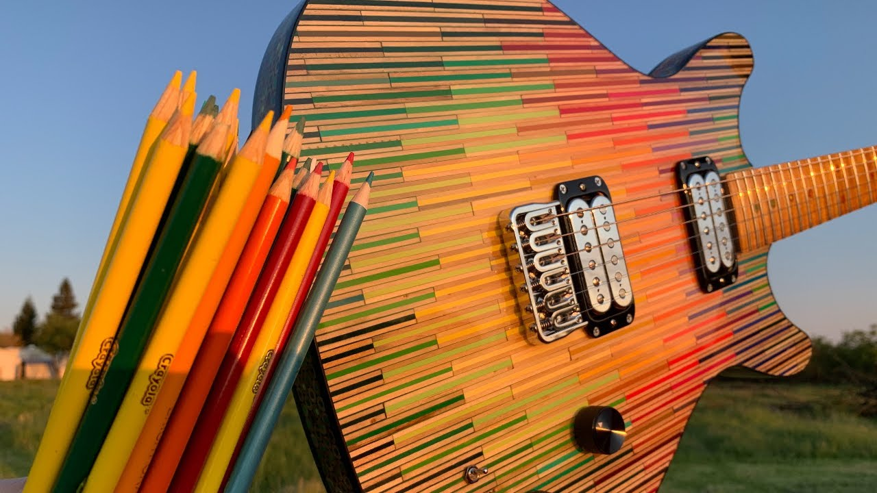 I Built a Guitar Out of 1200 Colored Pencils 3.0