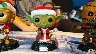 Unboxing! Funko Pop special edition Star Wars Christmas bobble heads!