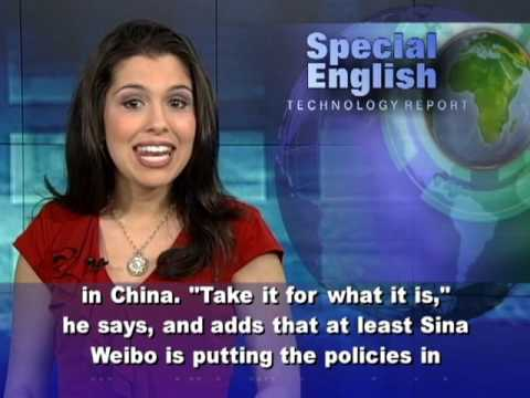 English For You || Technology Report[New Rules for Sina Weibo Users in China Take Effect May 28]