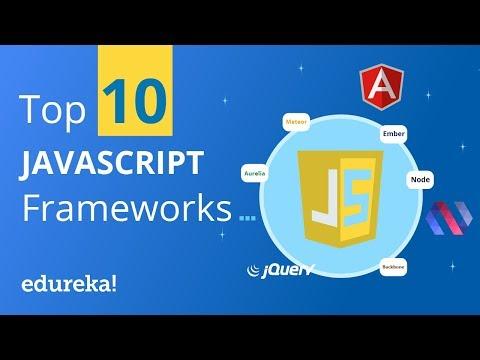 Top 10 Most Popular JavaScript Frameworks  | Which JavaScript Framework to learn | Edureka