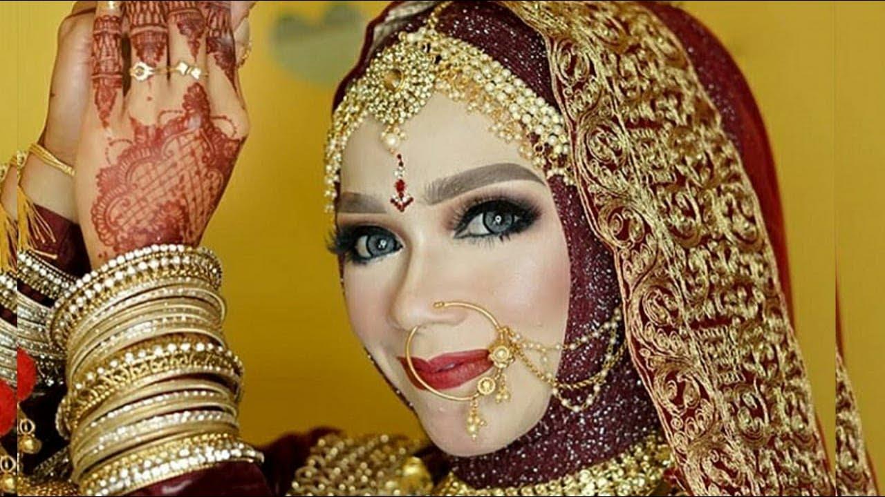 TUTORIAL MAKEUP DAN HIJAB WEDDING ALA INDIA
