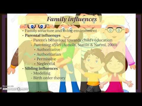 Family influences on academic motivation