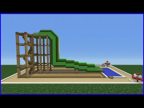 Minecraft Tutorial: How To Make A Tube Water Slide (Mini Water ...