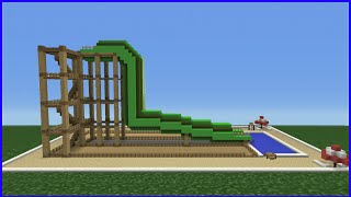 Minecraft Tutorial: How To Make A Tube Water Slide (Mini Water Park)