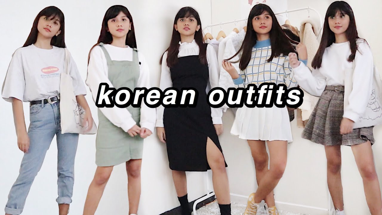 KOREAN OUTFIT IDEAS (blackpink & BTS giveaway!)