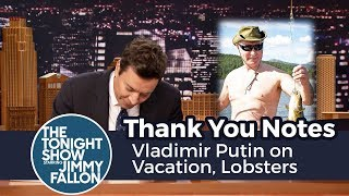 Thank You Notes: Vladimir Putin on Vacation, Lobsters thumbnail