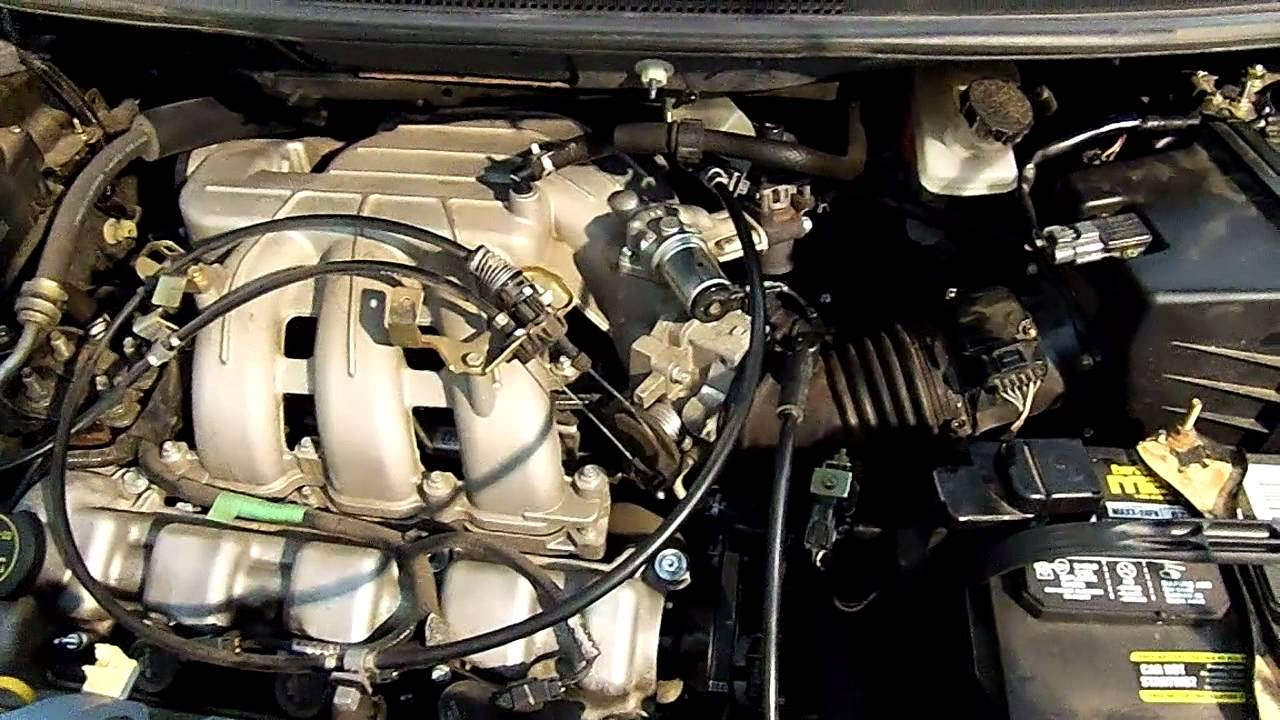 PCV Hose replacement on a 2005 Mazda MPV  YouTube