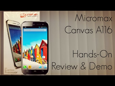 Micromax Canvas HD A116 Hands-On Review & Demo of Features Browser Camera - PhoneRadar