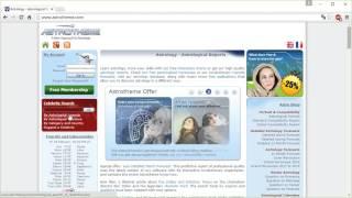 Astrotheme.com Сайт-база даних. Коротка інструкція
