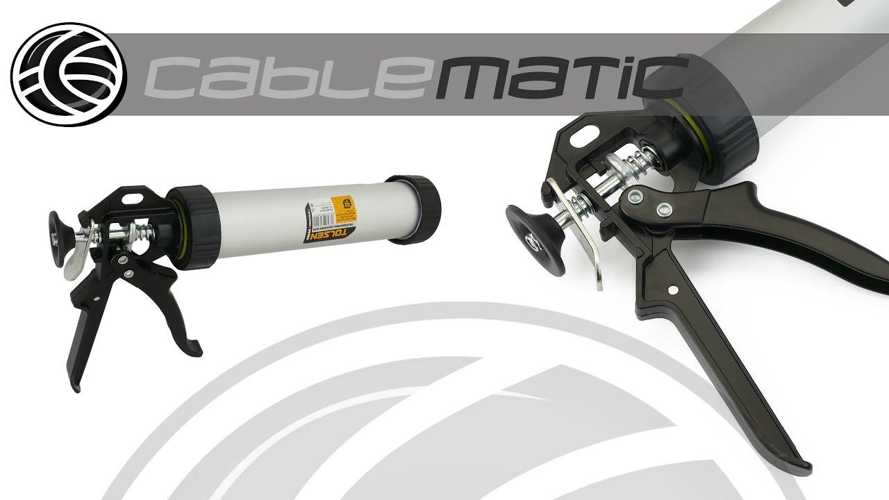 Pistola aluminio para tubo de silicona 225 mm tolsen - Tubo de aluminio ...