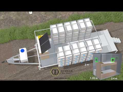 With a person professional mobile beekeeping system / Tek kişilik profesyonel mobil arıcılık sistemi