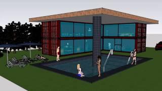 Container Modificati, Villa con piscina di pregio club house resort
