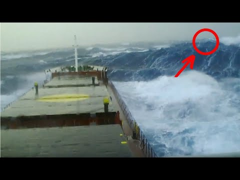 Ship in Storm |Merchant Navy Ship In Monster Waves (Storm Force 10)