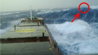 Ship in Storm | Merchant Navy Ship In Monster Waves (Storm Force 10)
