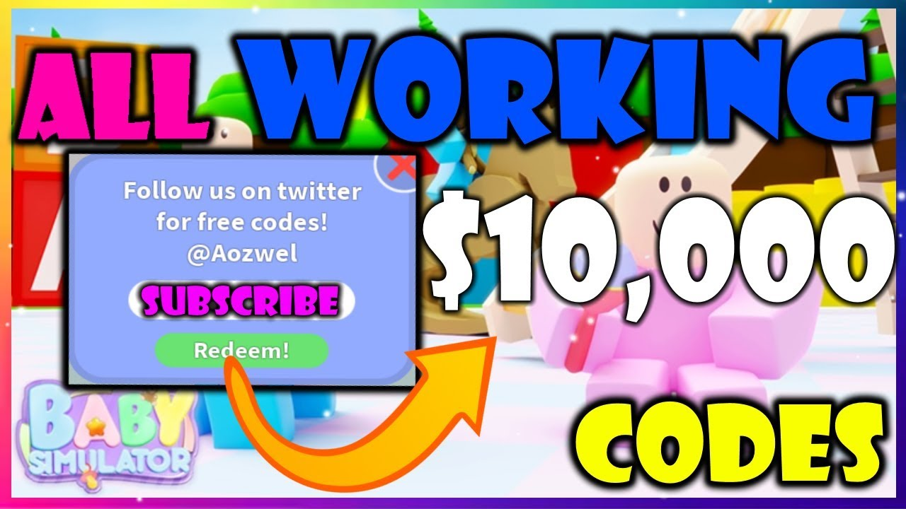 All Working Codes In New Baby Simulator Roblox 8 Codes