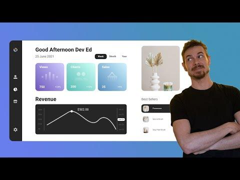 Beautiful Dashboard UI Design - Adobe XD UI Design Tutorial