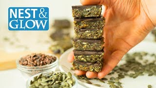 FAST 3 Ingredient Pumpkin Seed Chocolate Candy