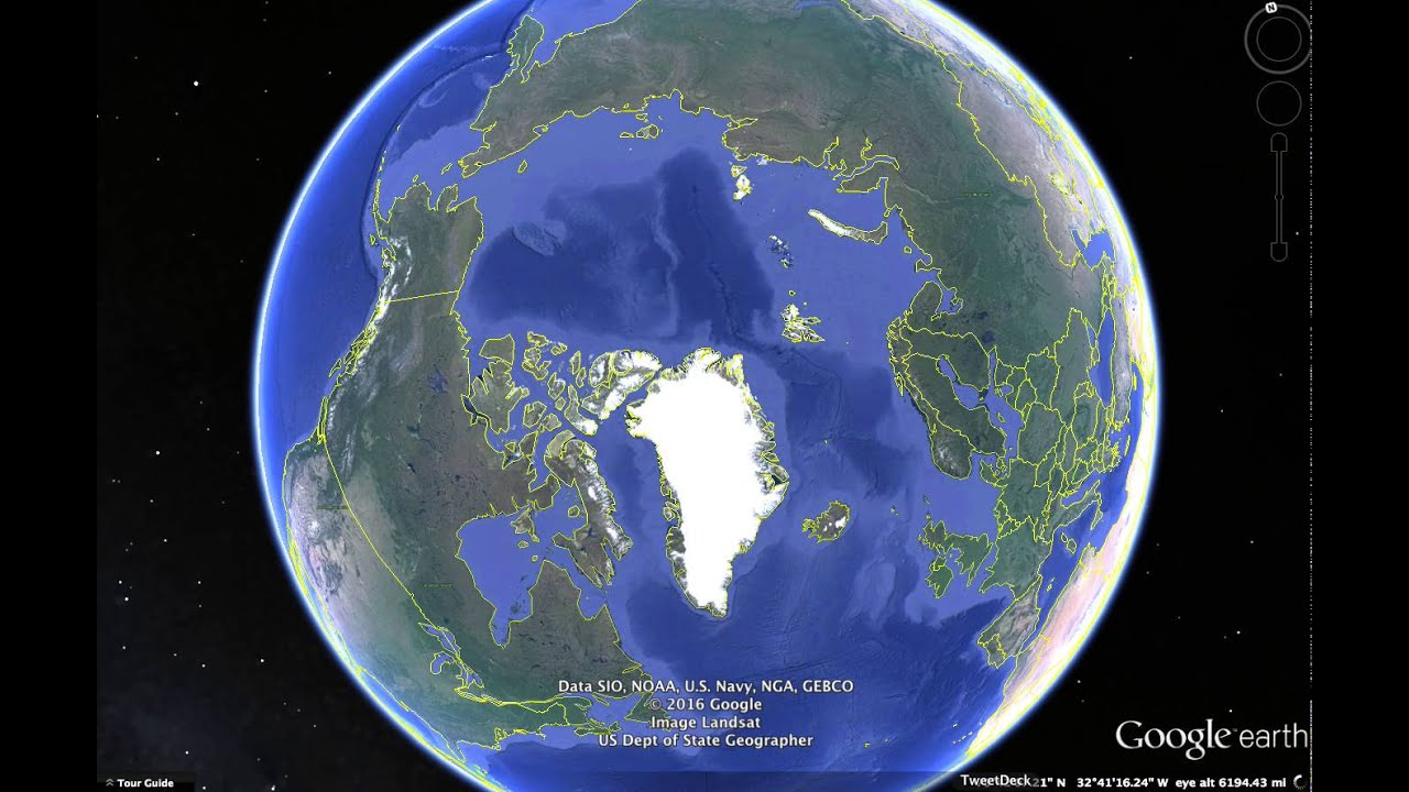 North Pole Missing Is Google Maps editing Images Or Climate