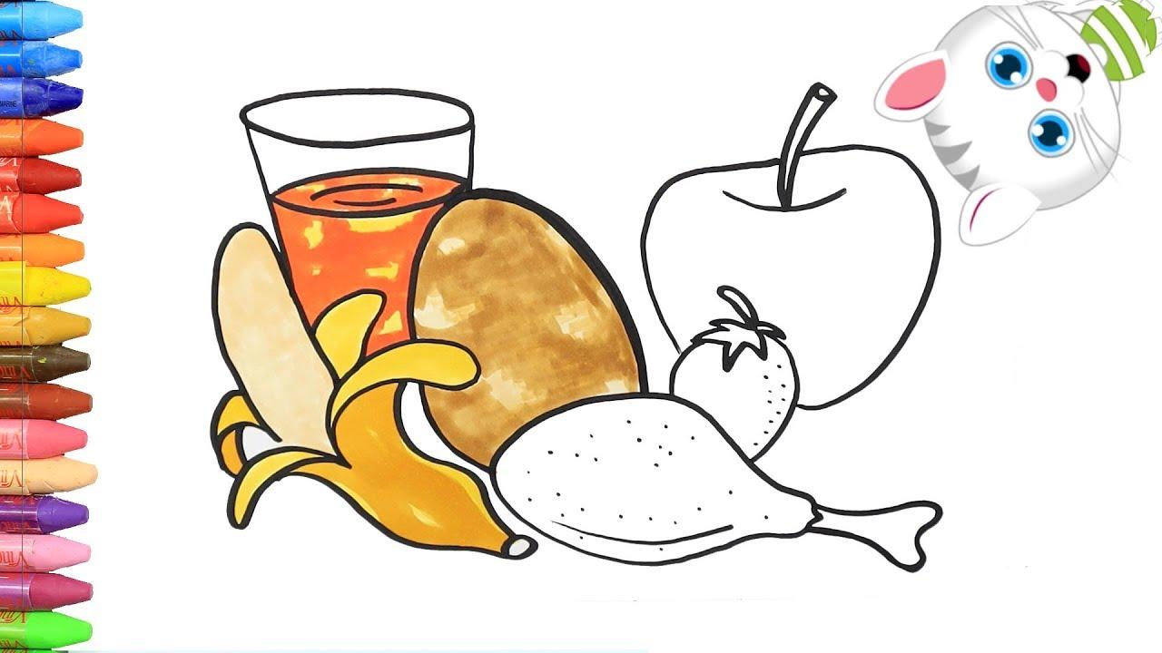 Cara Menggambar Makanan Lezat Mewarnai