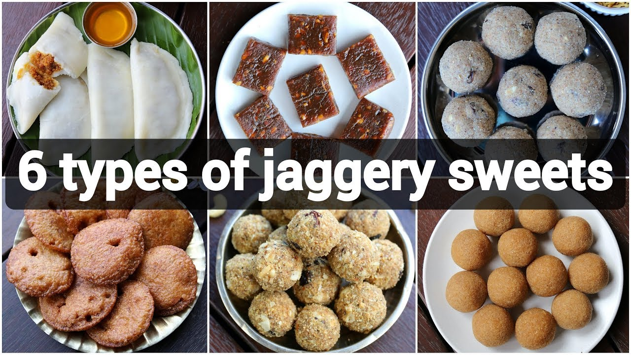 6 Types Of Jaggery Sweets Recipes Healthy No Sugar Indian Desserts No Sugar Sweets For Festival Youtube
