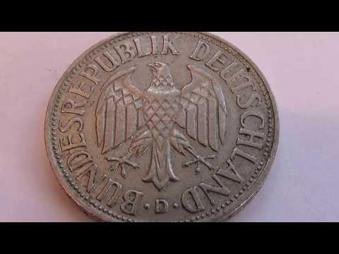 A 1957 Deutsche 1 Mark Coin