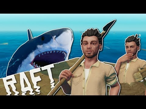 BUILDING A RAFT TO SURVIVE! - Raft Multiplayer Gameplay & Survival Early Access