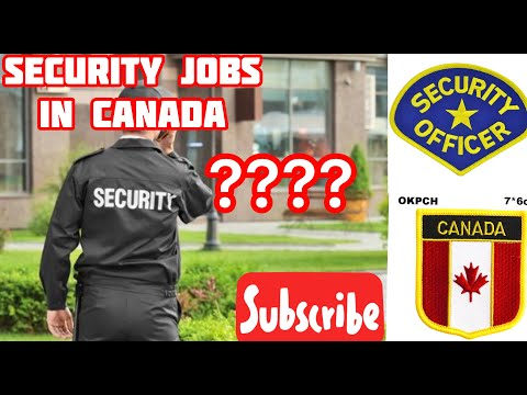 How To Find Security Jobs In Canada